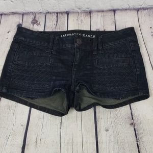 American Eagle Outfitters Textured Jean Shorts